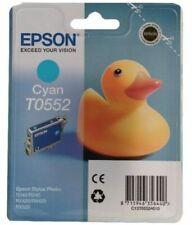 Epson T0552 Tinte cyan für Stylus Photo R240 R245 RX420 RX425 RX520 OVP B