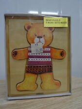 BEAR PUZZLES IN WOOD MAKES 6 DIFFERENT BEARS AGES 3+