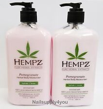 Pack of 2 -17oz Hempz Pure Herbal Extract Lotion - POMEGRANATE