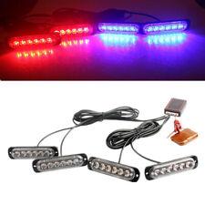 24LED Car Red Blue Police Strobe Flash Truck Light Dash Emergency Warning Lamp