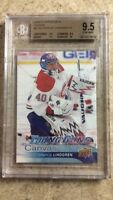 16-17 UD YG Young Guns Canvas #C104 CHARLIE LINDGREN RC Rookie Graded BGS 9.5