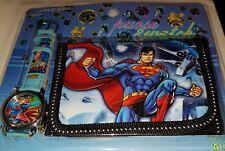 Superman Niños/Kid's Reloj Y Cartera Conjunto de Regalo para Niños Niñas Navidad Regalo