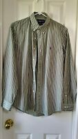 Polo Ralph Lauren Striped Long Sleeve Button Down Shirt Sz Large Custom Fit