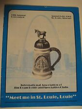 Vintage Original 1983 13th Annual JIM BEAM Bottle Club Program St Louis Missouri