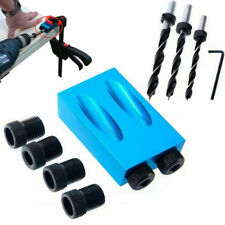 14X Pocket Hole Jig Kit Woodworking Wood Drill Angle Hole Locator Craft Working