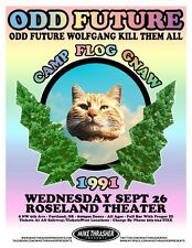 OFWGKTA Odd Future 2012 POSTER Gig Portland Oregon Tyler The Creator Concert