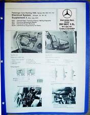 Mercedes 280 SE/C W111 Coupe Power Windows & Electrical Diagram Service Manual