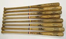 Lot of Eight GAME ISSUED Wood Cooper Pro 100 Baseball Bats Various Players MLB