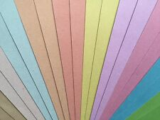 "20x Sheets Weave Cardstock 12""x12"" 200gsm Pastels"