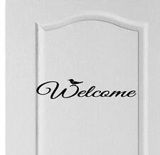 Welcome front door/hall decal sign vinyl sticker, shop, Hotel, Home, Love, Decor