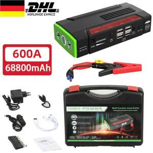 Auto Starthilfe 68800mAh Jump Starter Ladegerät Booster Powerbank Für KFZ PKW DE
