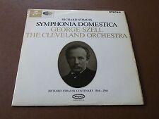 UK COLUMBIA SAX 2545 STRAUSS SYMPHONIA DOMESTICA SZELL LP STEREO 1964 RED S/C