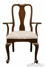 Ethan Allen Georgian Court Solid Cherry Queen Anne Style Dining Arm Chair 11-.