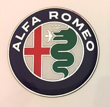 ALFA ROMEO Autocollant/Décalque-Chrome Diamètre 74 mm Brillant en Forme de Dôme Gel Finition