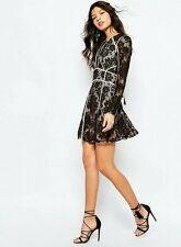 NEW Urban Outfitters The Jetset Diaries Pizzo Mini Dress With Open Back in Black