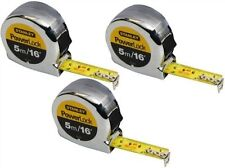 STANLEY STA033553 5m Powerlock Tape Measure 16ft with 3 Rivets 0-33-553 X3