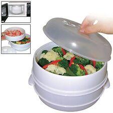 2 volet Micro-Ondes à vapeur Pâtes Légumes Riz poisson à POT Sain cuisinière