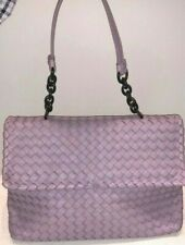Bottega Veneta Olimpia Intrecciato Calfskin Nappa Soft Purple Medium Bag Italy