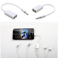 2Pcs 3.5mm Jack One In Two Couples for Headphone Earphone Splitter Audio Line