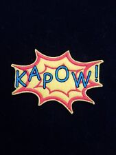 Kapow Embroidered Patch Badge Iron on batman