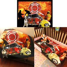 Firefighter Fire Rescue Firemen Dog Fire Truck 50x60 Throw Soft Fleece Blanket