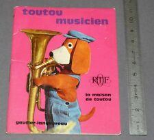 GAUTIER-LANGUEREAU MAISON TOUTOU MUSICIEN ORTF EO 1967 G. CROSES R. ARTARIT