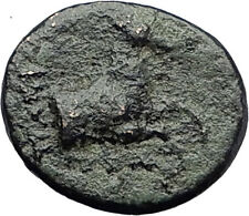 Kolophon Colophon IONIA 360BC Authentic Ancient Greek Coin APOLLO & HORSE i63238