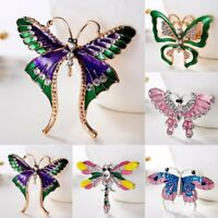Women Crystal Bee Animal Butterfly Brooch Pin Wedding Bridal Jewellery Party New