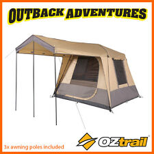 OZTRAIL FAST FRAME TOURER 240 FULL FLY INSTANT UP QUICK PITCH 4 PERSON TENT