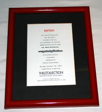 1997 Invitation from The Collection, Miami, FL to meet Ing. Pininfarina - framed