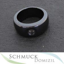 Melano-magnetic cerámica ring - 10 mm-negro-talla 60 nuevo