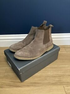 Mens Grey Genuine Suede Chelsea Boots Size 9. Smart Casual Worn Once Rrp £80