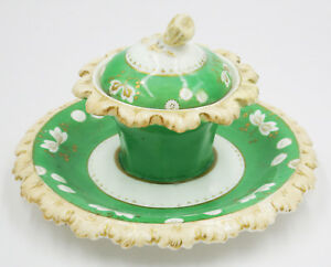 Early 19th Century Victorian Antique Ceramic Inkwell
