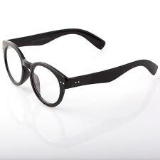 Unisex Fun Party Clear Lens Black Frame Nerd Glasses Halloween Costume