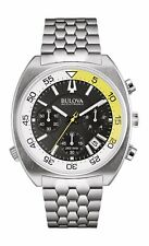 Bulova Accutron II Snorkel Men's 96B237 Quartz Chronograph Black Dial 44mm Watch