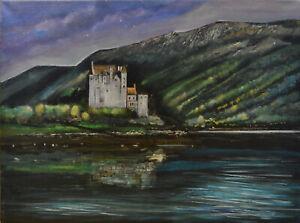 Scotland Highlands Eilean Donan - Original Acrylic Landscape Painting 40x30cm