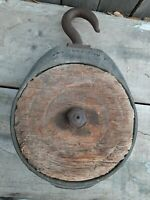 * rare * BAGNALL & LO antique Wood Pulley