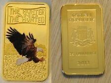 Somalia 2013 Goldplated Color Rectangular 25 shilling-Fauna-Bald Eagle