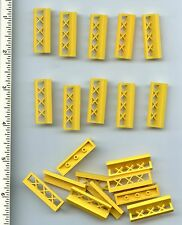 LEGO x 20 Yellow Fence 1 x 4 x 1 bulk lot City Town