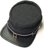 CIVIL WAR CSA CONFEDERATE DARK GREY WOOL KEPI FORAGE CAP HAT-XLARGE