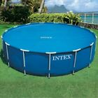 Intex 29024E Above Ground Swimming Pool Solar Cover 16 Foot  w/ Carry Bag ~ Blue