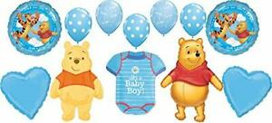 Winnie the Pooh Baby Shower Balloons Jump For Joy It's A Boy Balloon Bouquet ...