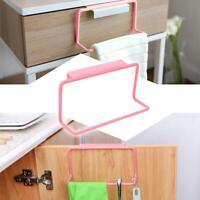 Household Towel Rack Bar Hanging Holder Rail Organizer Bathroom Cabinet Cupboard