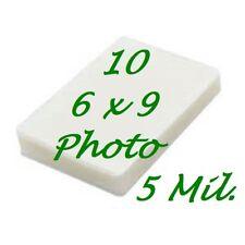 6 X 9 10 Pk 5 Mil Laminating Pouches Laminator Sheets Half Letter Scotch Quality