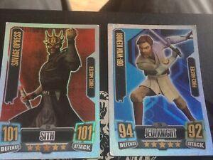 FORCE ATTAX STAR WARS Master Cards X2