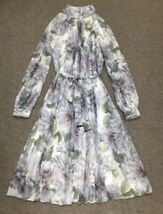 Ted Baker Clove Pleated Midi Dress Size 1,2,3,4 RRP $519