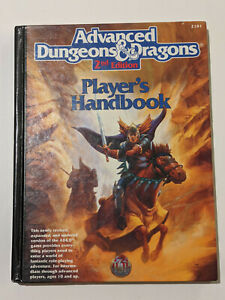 Advanced Dungeons & Dragons AD&D 2e Player's Handbook PHB