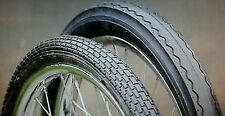 "TWO(2) 20"" STINGRAY MUSCLE BIKE TIRE SET 20X1.75 BRICK PATTERN & 20X2.125 SLICK"