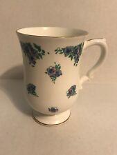 Royal Victoria Fine Bone China Mug ROV3 Pattern Floral Blue Pink 4 5/8