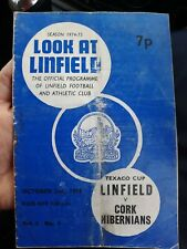 More details for 1974/75 linfield v cork hibs- texaco (all ireland) cup - 2nd oct - vol 4 no 4